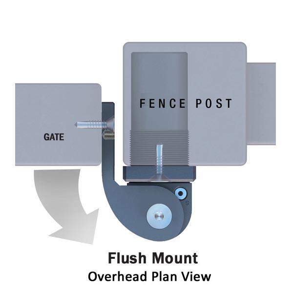 Sureclose Sm At90 W Flush Mount Gate Hinge Epivots Com